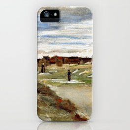 Vincent Van Gogh - Bleaching Ground at Scheveningen iPhone Case