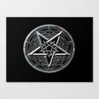 pentagram Canvas Prints featuring Pentagram by Rab Sizzle