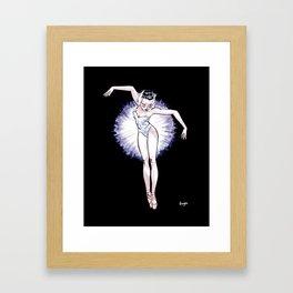 WhiteSwan Coolnoodle Framed Art Print