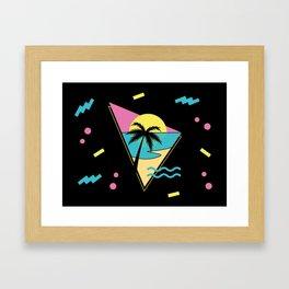 Memphis pattern 42 - 80s / 90s Retro / palm tree / summer Framed Art Print