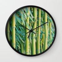 bamboo Wall Clocks featuring Bamboo by Laura Ruth