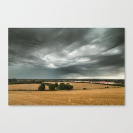 Stormy Sky Over Sawtry Canvas Print