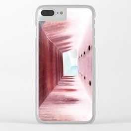 upside down (negative) Clear iPhone Case