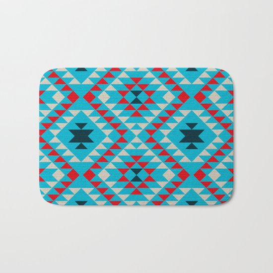 Geometric tribal pattern Bath Mat