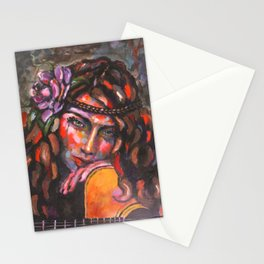 Layla and Her Guitar Stationery Cards