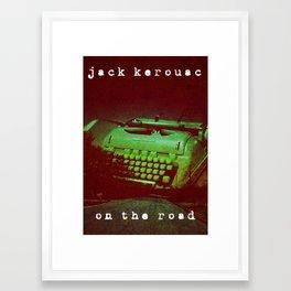 Jack Kerouac, On the Road Framed Art Print