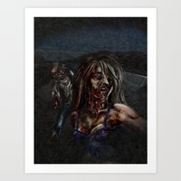 zombies Art Prints featuring Zombies!! by Shyniester