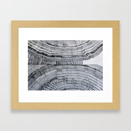 Streetart in Gray Concentric shapes Framed Art Print
