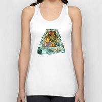 metallic Tank Tops featuring Metallic by Vargamari