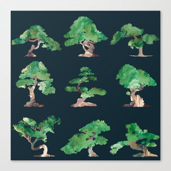 Bonsai Pattern Canvas Print
