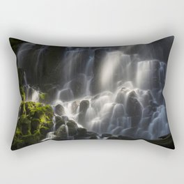 Ramona Falls in the Forest Rectangular Pillow