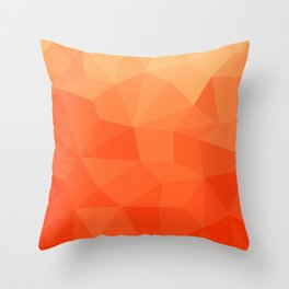Abstract Geometric Gradient Pattern between Pure Red and very light Orange Throw Pillow