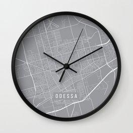 Odessa Map, Texas USA - Pewter Wall Clock