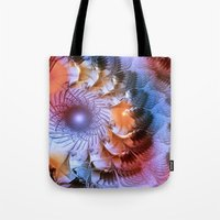 ferris wheel Tote Bags featuring Ferris Wheel by Klara Acel