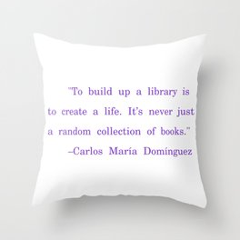 Library is life Throw Pillow