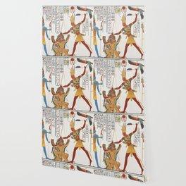 Vintage Egyptian gods artwork Wallpaper