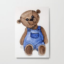 Thoughtful Teddy Metal Print