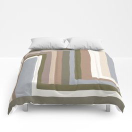 Abstract Neutrals III Comforters