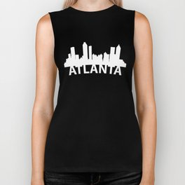 Curved Skyline Of Atlanta GA Biker Tank