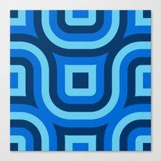Blue Truchet Pattern Canvas Print
