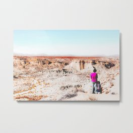 Desert with blue sky in summer in California, USA Metal Print