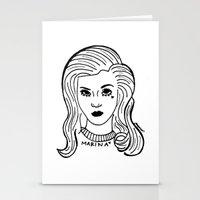 marina Stationery Cards featuring Marina by Rosalia Mendoza