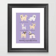 MIDDLE EASTERN DOGS Framed Art Print