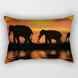 Elephant Safari Rectangular Pillow