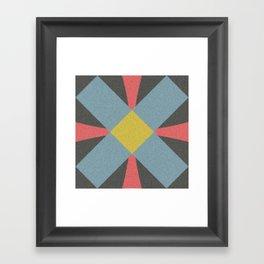 Blue gray Framed Art Print