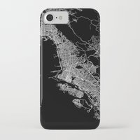 oakland iPhone & iPod Cases featuring oakland map california by Line Line Lines