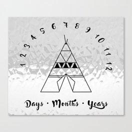 Metallic Tepee - Milestones to Remember Canvas Print