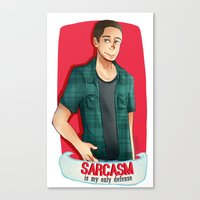 sarcasm Canvas Prints featuring Sarcasm by IanPinkis