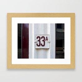 thirty three Framed Art Print