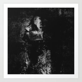 Falling in the darkness Art Print