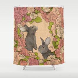 Rosie Rabbits Shower Curtain