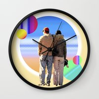 melissa smith Wall Clocks featuring Melissa & Ernie by MCDiBiase