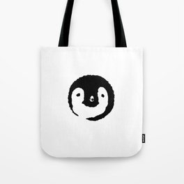 Baby Penguin Face Tote Bag