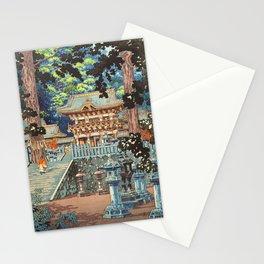Tsuchiya Koitsu - Yomei Gate Nikko - Japanese Vintage Woodblock Painting Stationery Cards