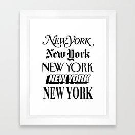 I Heart New York City Black and White New York Poster I Love NYC Design black-white home wall decor Framed Art Print