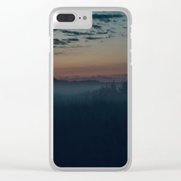 Fox in the morning forest, sunset, sunrise, nature Clear iPhone Case