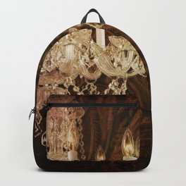 rustic western country leather texture crystal chandelier Backpack