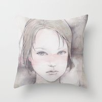 river song Throw Pillows featuring song by Shiro