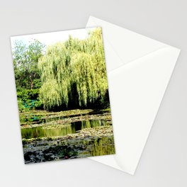 Willow Tree in Monet's Garden  Stationery Cards