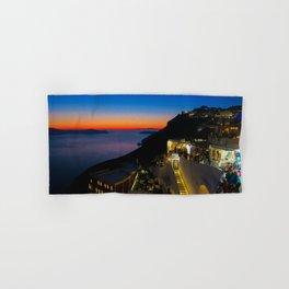 fira sunset-Santorini Hand & Bath Towel