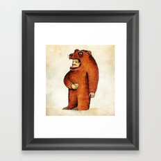 Oso pico tibio Framed Art Print