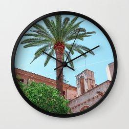 Pastel Town Wall Clock