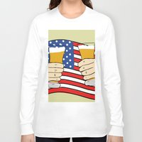 america Long Sleeve T-shirts featuring America by Ricki Lynn