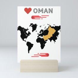 Love Oman Mini Art Print