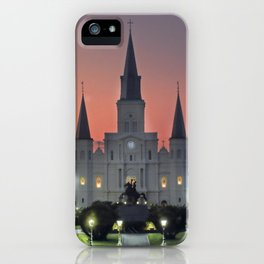 French Quarter St. Louis Cathedral, New Orleans iPhone Case