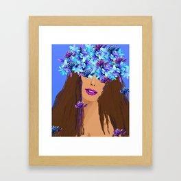 WOMAN I KNOW WHO I AM Framed Art Print